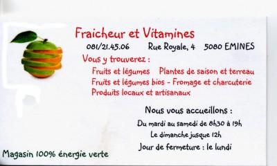 Fraicheur et vitamines